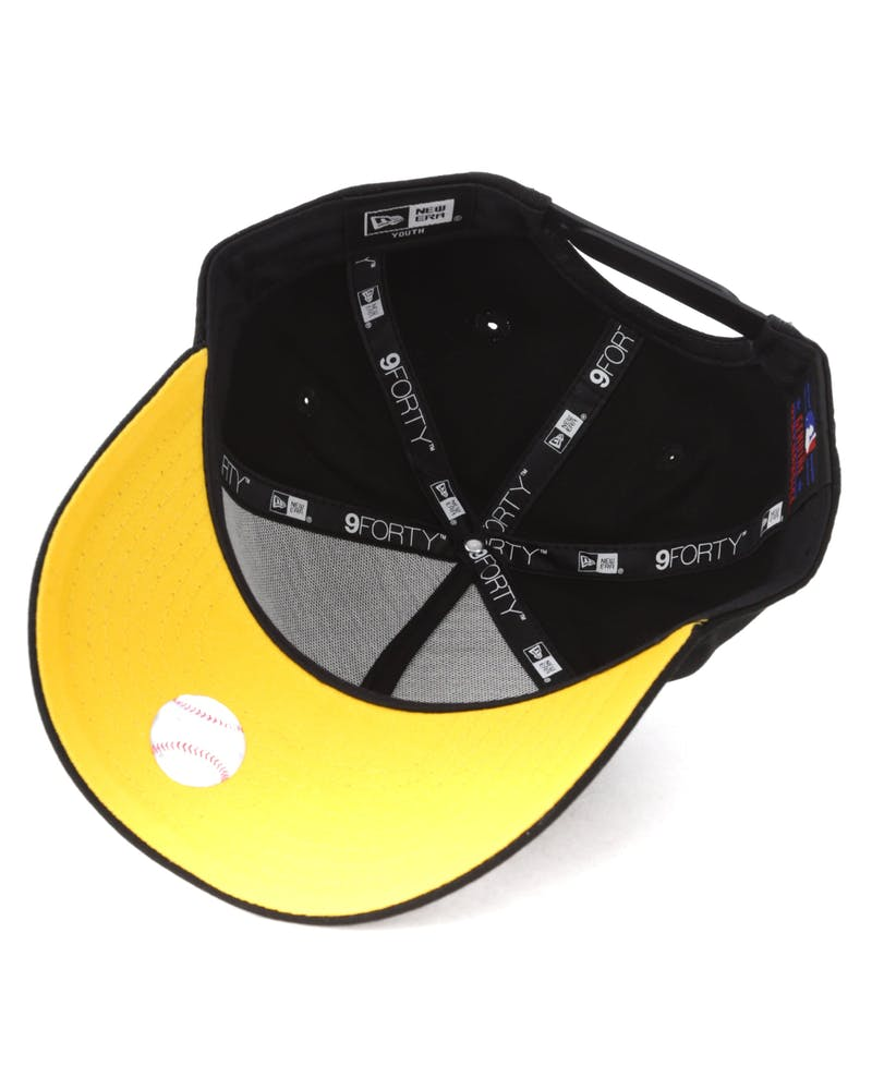 New Era Youth Pittsburgh Pirates 940 Script 9FORTY A-Frame Snapback Black/Yellow