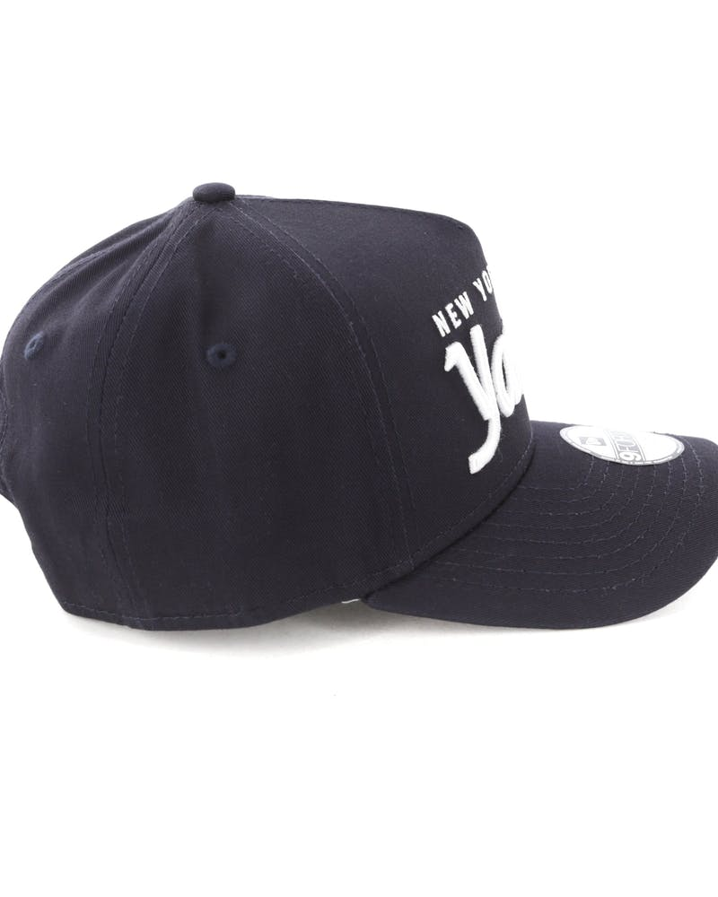 New Era Youth New York Yankees 940 Script 9FORTY A-Frame Snapback Navy/White