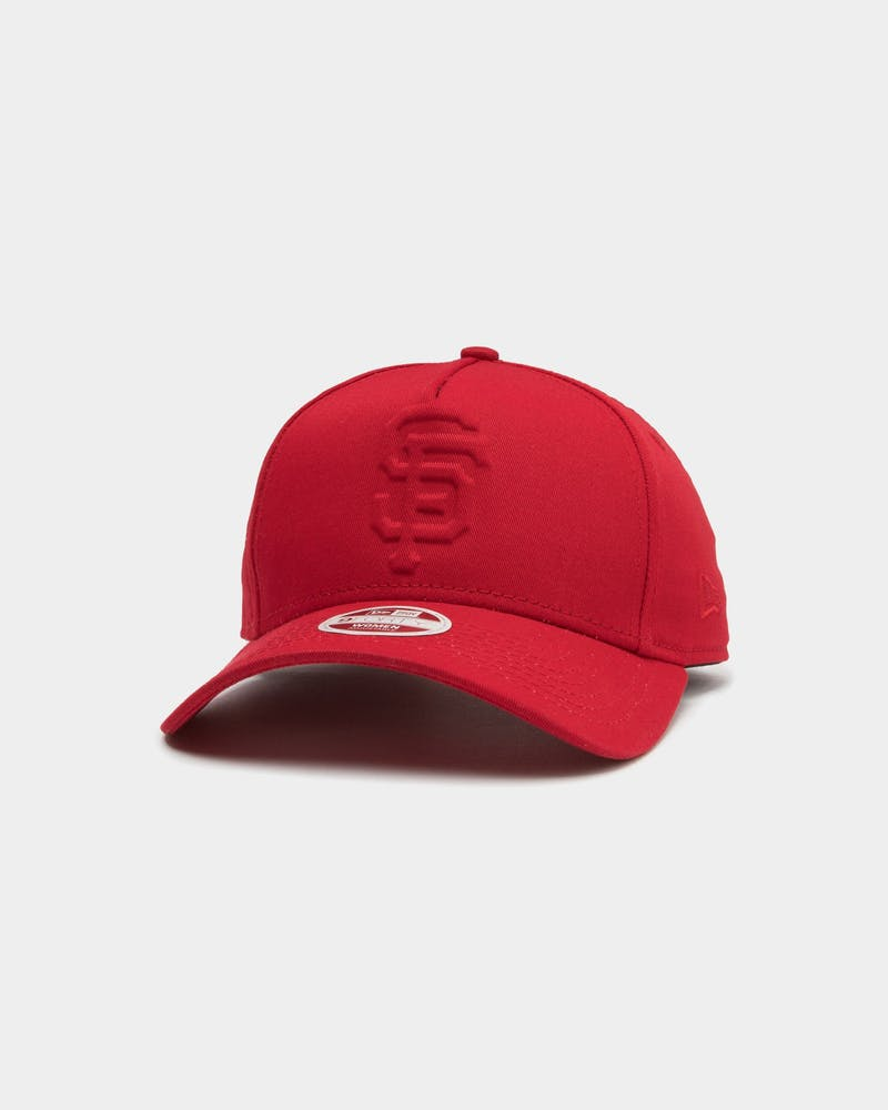 New Era Women's San Francisco Giants 9FORTY A-Frame Embossed Strapback Scarlet
