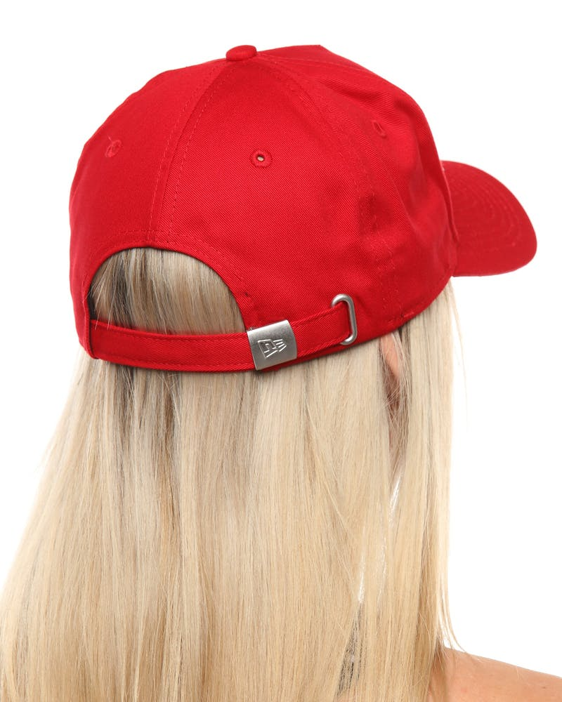 New Era Women's Pittsburgh Pirates 9FORTY A-Frame Embossed Strapback Scarlet