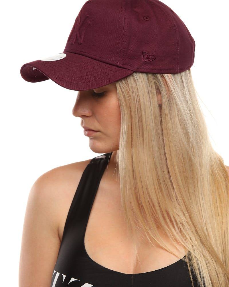 New Era Women's New York Yankees 9FORTY A-Frame Embossed Strapback Maroon
