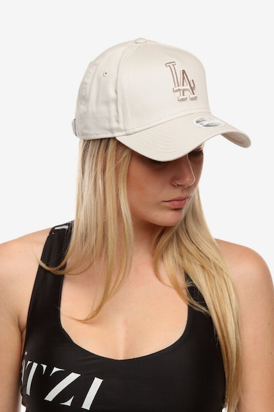 New Era Women's Los Angeles Dodgers 940 A-Frame Embroidered Strapback Stone