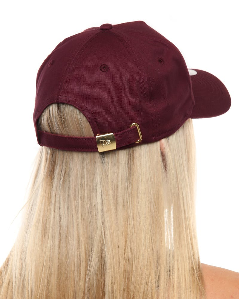 New Era Women's Los Angeles Dodgers 9FORTY A-Frame Embossed Strapback Maroon