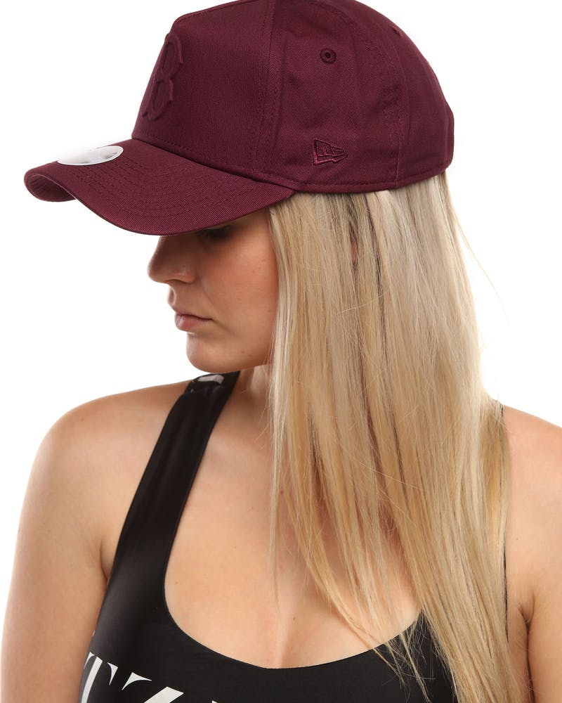 New Era Women's Boston Red Sox 9FORTY A-Frame Embossed Strapback Maroon