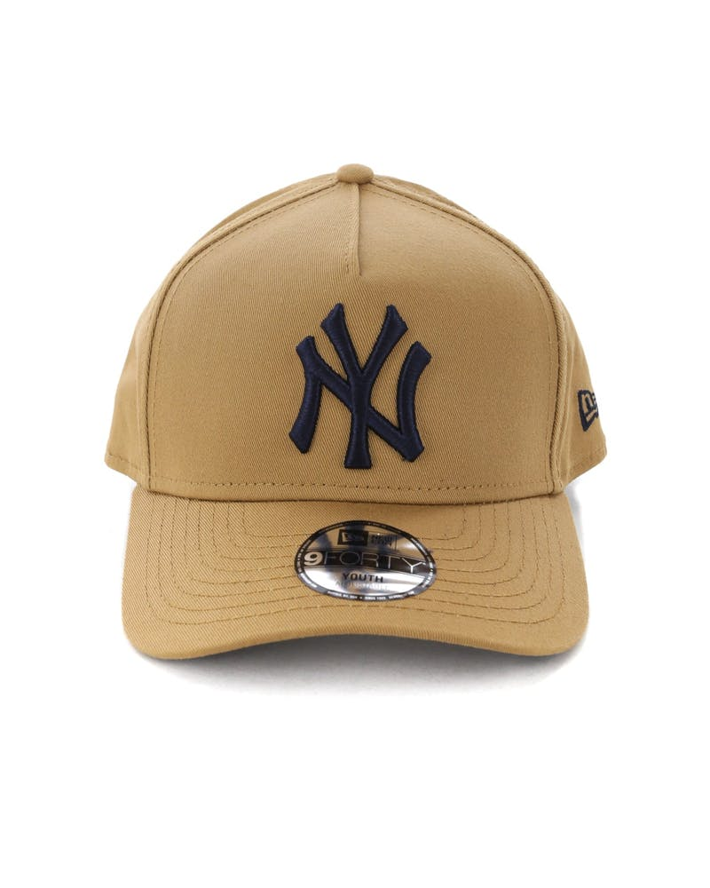 New Era Youth New York Yankees 9FORTY A-Frame Snapback Wheat/Navy