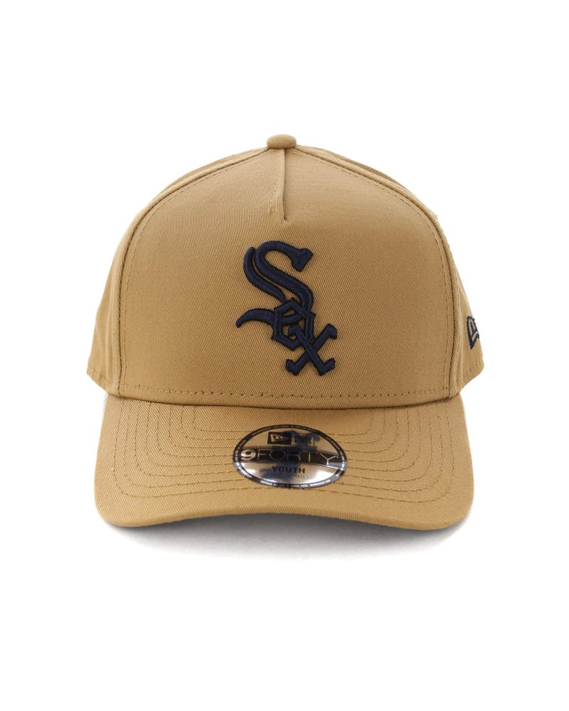 New Era Youth Chicago White Sox 9FORTY A-Frame Snapback Wheat/Navy