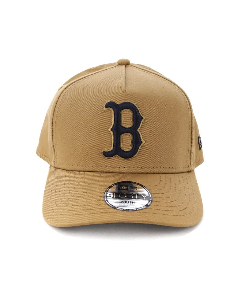 New Era Youth Boston Red Sox 9FORTY A-Frame Snapback Wheat/Navy