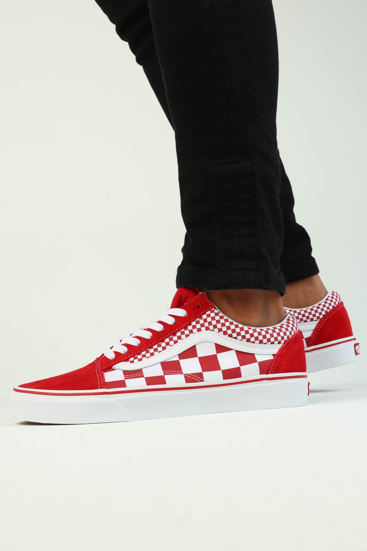 Vans Old Skool (Mix Checker) Red/White