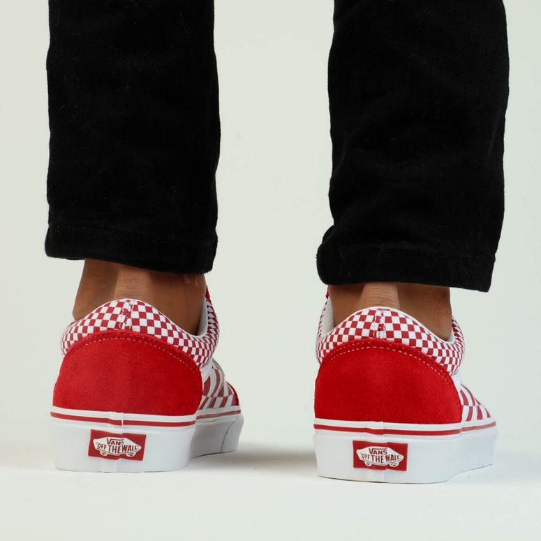 0bee6d2faf Vans Old Skool (Mix Checker) Red White – Culture Kings NZ