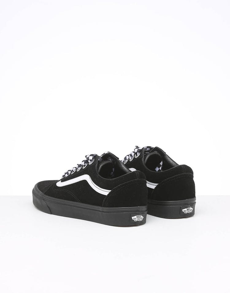 enjoy big discount classic fit nice cheap Vans Women's Old Skool Check Lace Black/Black