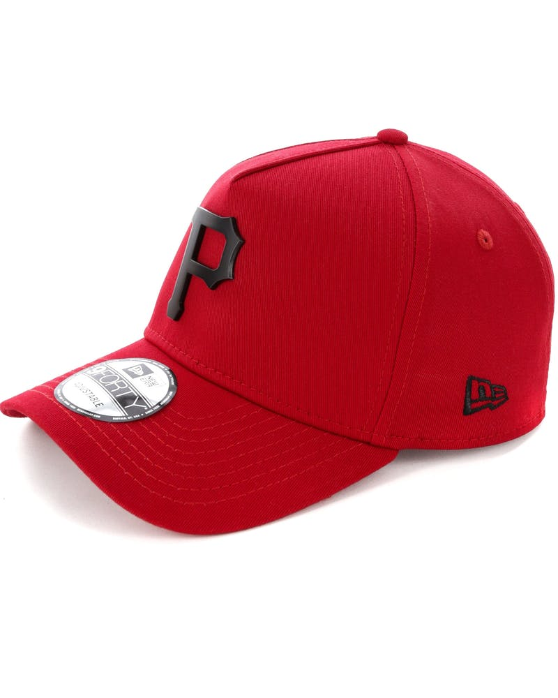 New Era Pittsburgh Pirates 9FORTY A-Frame Metal Badge Snapback Scarlet/Black