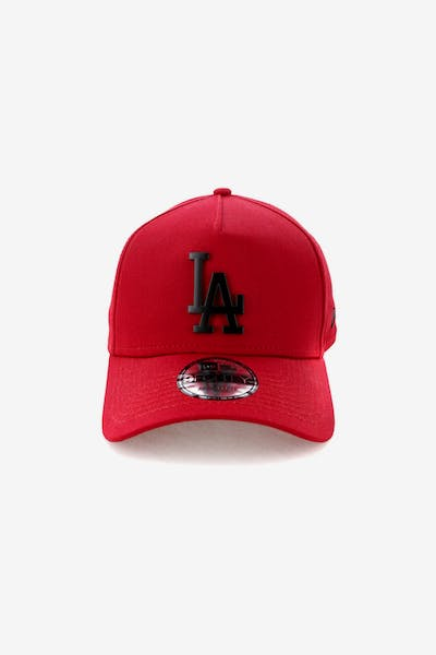 New Era Los Angeles Dodgers 9FORTY A-Frame Metal Badge Snapback  Scarlet Black + Quick View 603f9f848004