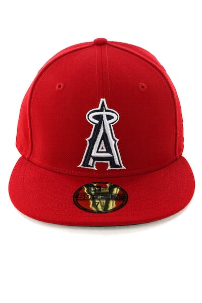 bbb9e160f1e New Era Los Angeles Angels 59FIFTY Fitted Scarlet Navy