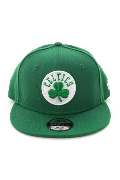 premium selection 87e43 63645 New Era Youth Boston Celtics 9FIFTY Snapback Kelly Green