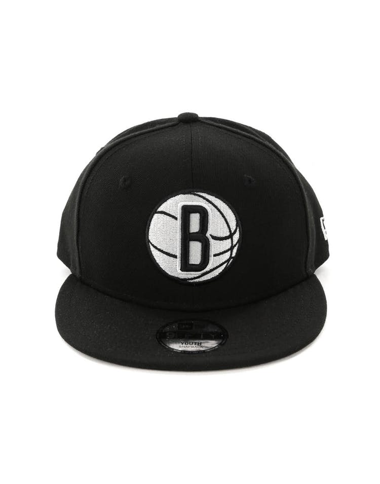 newest 35519 62aff New Era Youth Brooklyn Nets 9FIFTY Snapback Black
