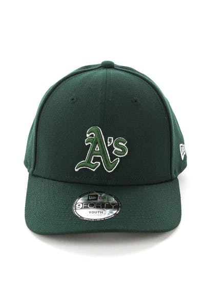 New Era Youth Oakland Athletics 9FORTY HookLP Dark Green