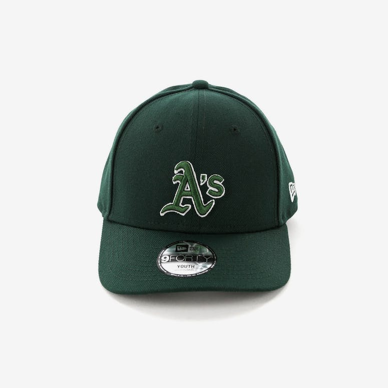 be518714101 New Era Youth Oakland Athletics 9FORTY HookLP Dark Green – Culture ...
