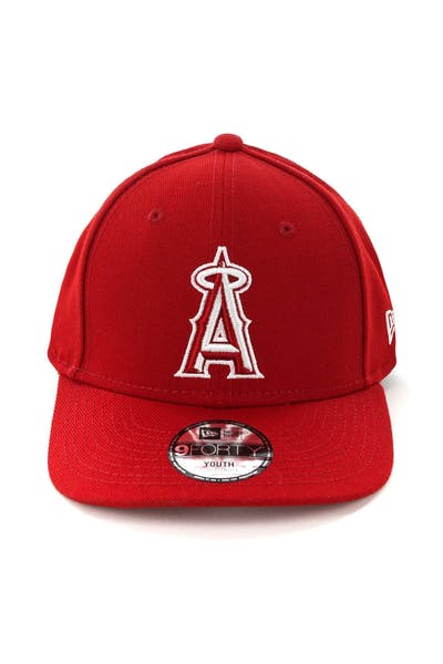 on sale a3636 65064 New Era Youth Los Angeles Angels 9FORTY HookLP Scarlet ...