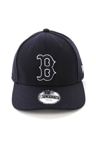 uk availability 9c8d3 70a21 New Era Youth Boston Red Sox 9FORTY HookLP Navy ...