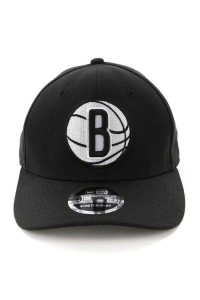 new style 9386d c96a4 New Era Brooklyn Nets 9FIFTY Stretch Snapback OTC Black