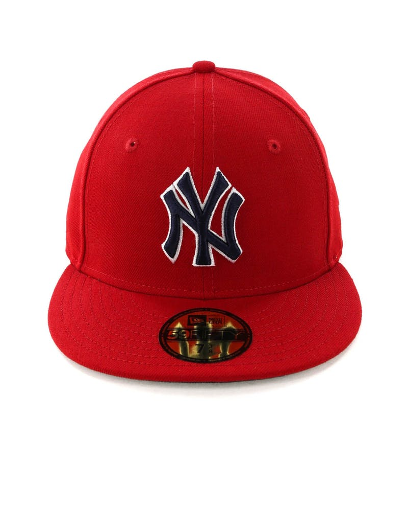 New Era New York Yankees 59FIFTY Fitted Scarlet/Navy