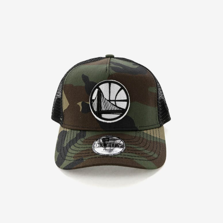 New Era Youth Golden State Warriors Ck 9forty A Frame Trucker Camo