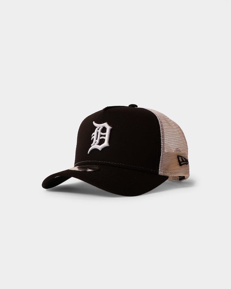 New Era Youth Detroit Tigers 9FORTY A-Frame Trucker Snapback Black/White