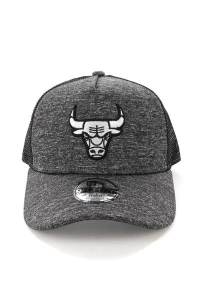 best website f19af 31618 New Era Youth Chicago Bulls CK 9FORTY A-Frame Trucker Shadow Tech