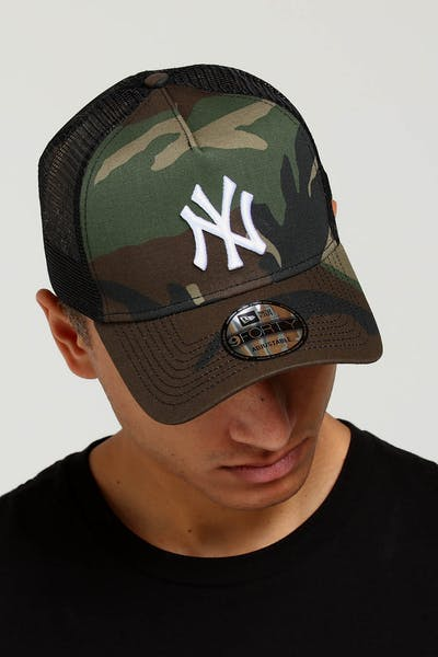 New Era New York Yankees CK 9FORTY A-Frame Trucker Snapback Camo Black cf6e51640a54