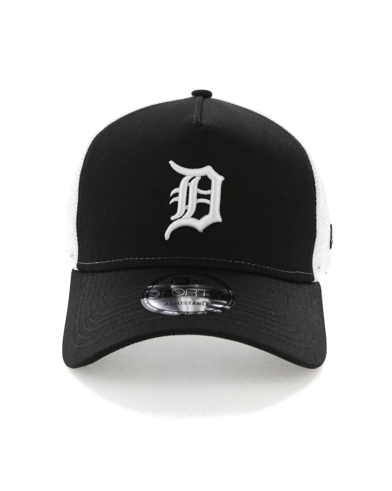 New Era Detroit Tigers 9FORTY A-Frame Trucker Snapback Black/White