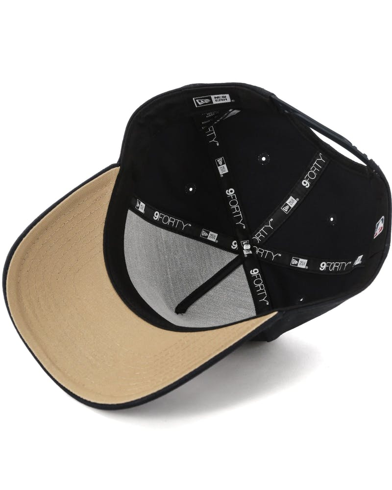 New Era San Francisco Giants 9FORTY A-Frame UV Snapback Black/Camel