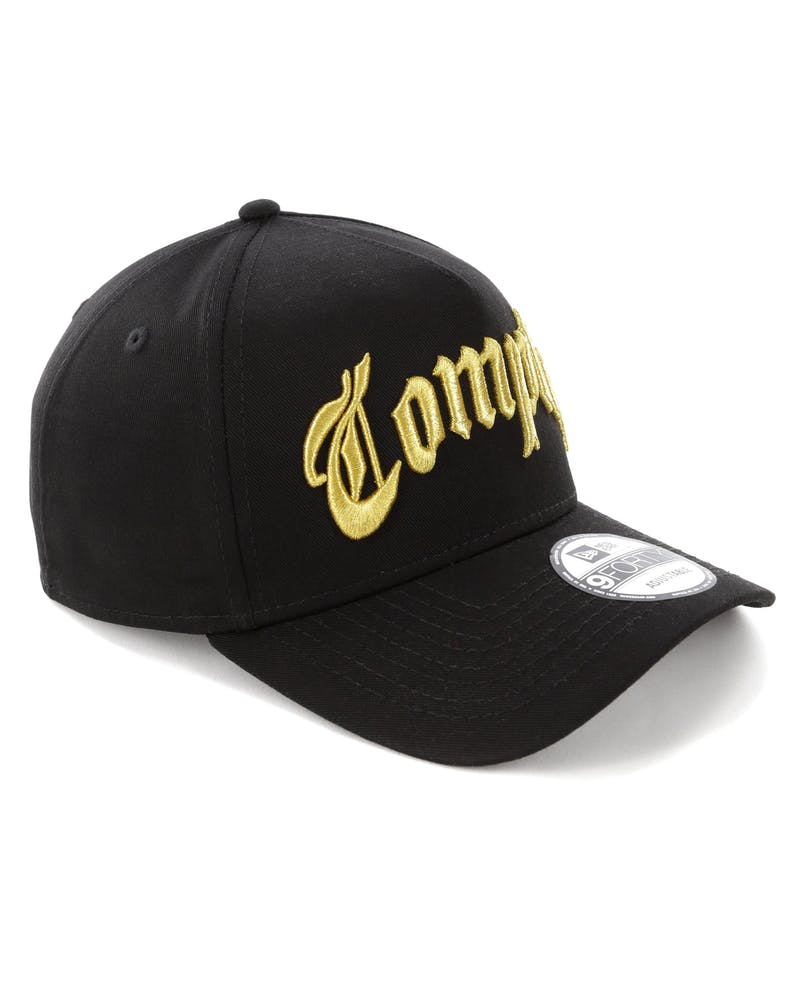 New Era Compton 9FORTY A-Frame Black/Gold