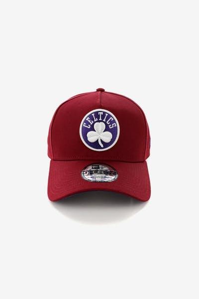 New Era Boston Celtics 9FORTY A-Frame Snapback Shiraz Purple 6fd6944a120