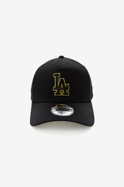 New Era Los Angeles Dodgers 940 A-Frame Snapback Outline Black/Gold