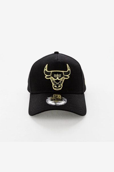 New Era Chicago Bulls 940 A-Frame Snapback Outline Black/Gold