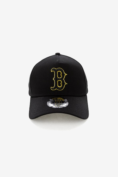 New Era Boston Red Sox 940 A-Frame Snapback Outline Black/Gold