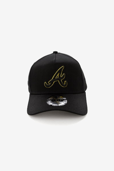 New Era Atlanta Braves 940 A-Frame Snapback Outline Black/Gold