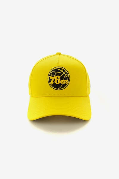 New Era Philadelphia 76ers 940 A-Frame Snapback Yellow/Black