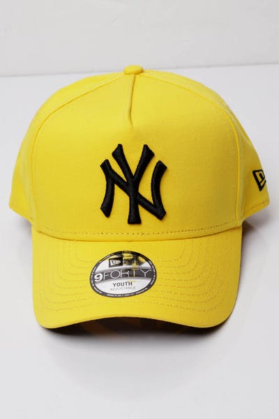 3d9f2ab85aa New Era Youth New York Yankees 9FORTY A-Frame Snapback Yellow Black