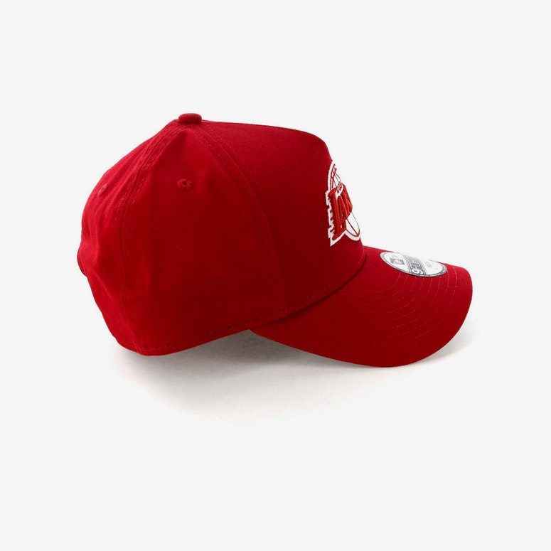 New Era Youth Los Angeles Lakers CK 9FORTY A-Frame Snapback Scarlet/Grey