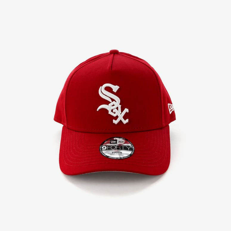 New Era Youth Chicago White Sox CK 9FORTY A-Frame Snapback Scarlet Grey 95d940feccee