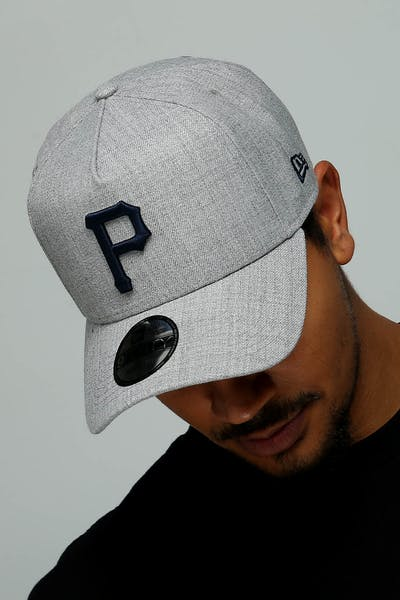 751ded44a89 New Era Pittsburgh Pirates 9FORTY A-Frame Snapback Heather Grey Navy