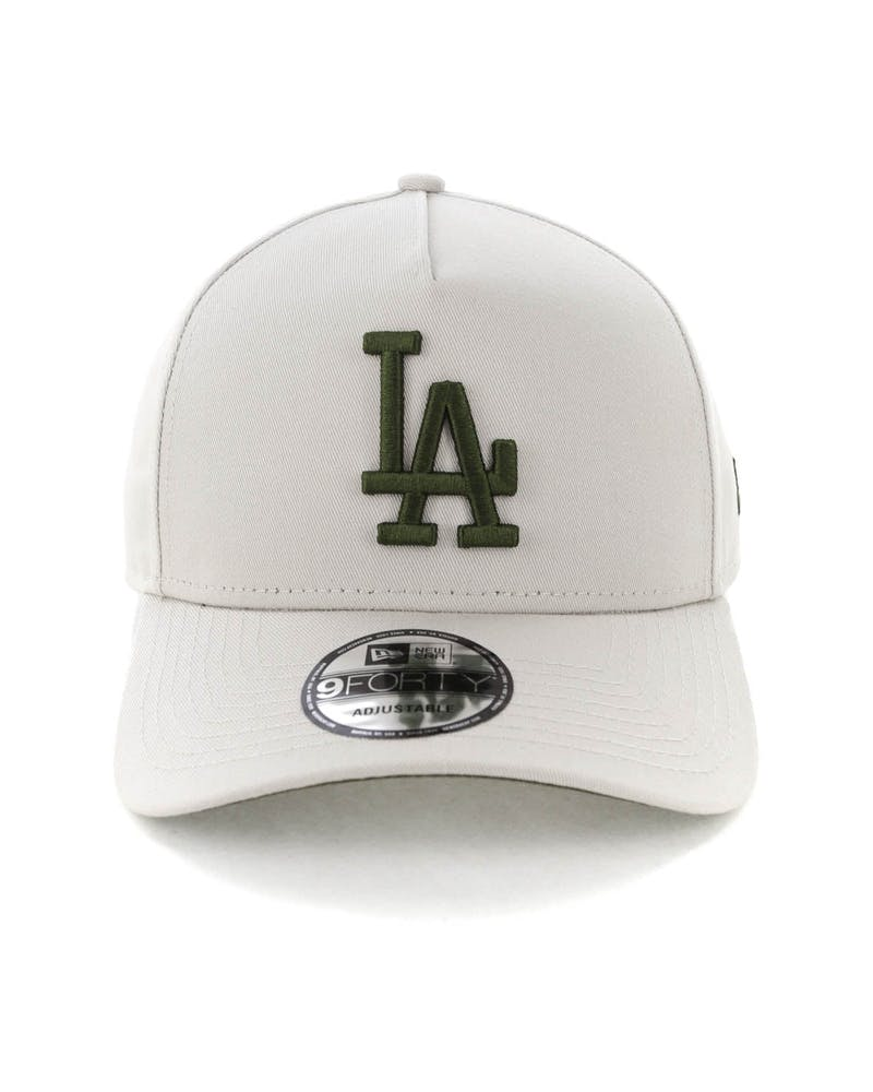 New Era Los Angeles Dodgers 9FORTY A-Frame Snapback Stone/Olive
