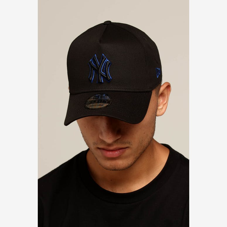 797bafd21c8 New Era New York Yankees 9FORTY A-Frame Snapback Black Royal – Culture  Kings NZ