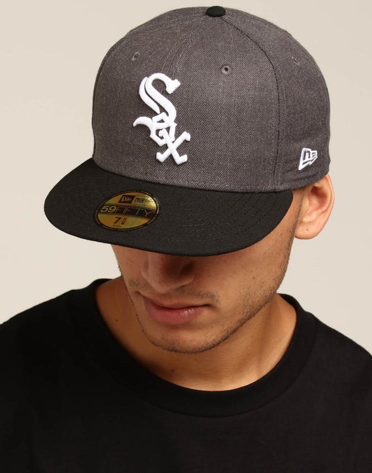 huge selection of f3020 bfe3a New Era Chicago White Sox 59FIFTY Fitted Graphite Heather