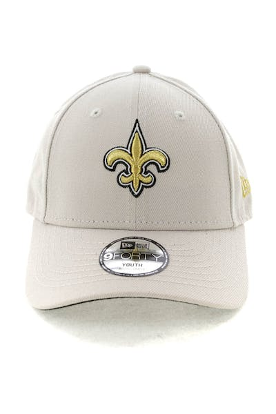 0763d27d60a New Era Youth New Orleans Saints 9FORTY HookNLoop Stone ...