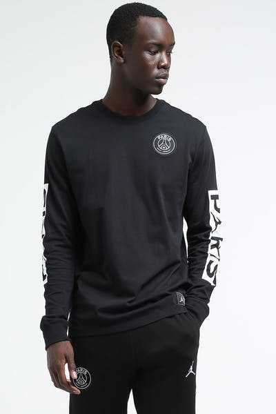 Jordan X Paris Saint-Germain LS Tee Black/White