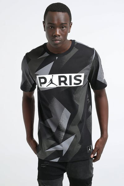 Jordan X Paris Saint-Germain SS Jock Tag Tee Black