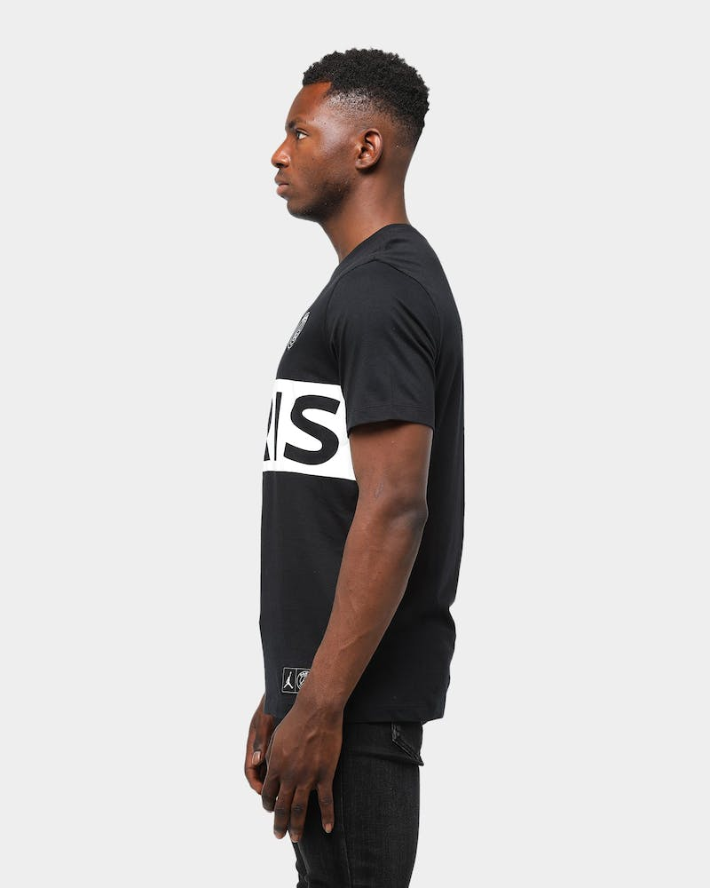 Jordan X Paris Saint-Germain SS T-Shirt Black/White