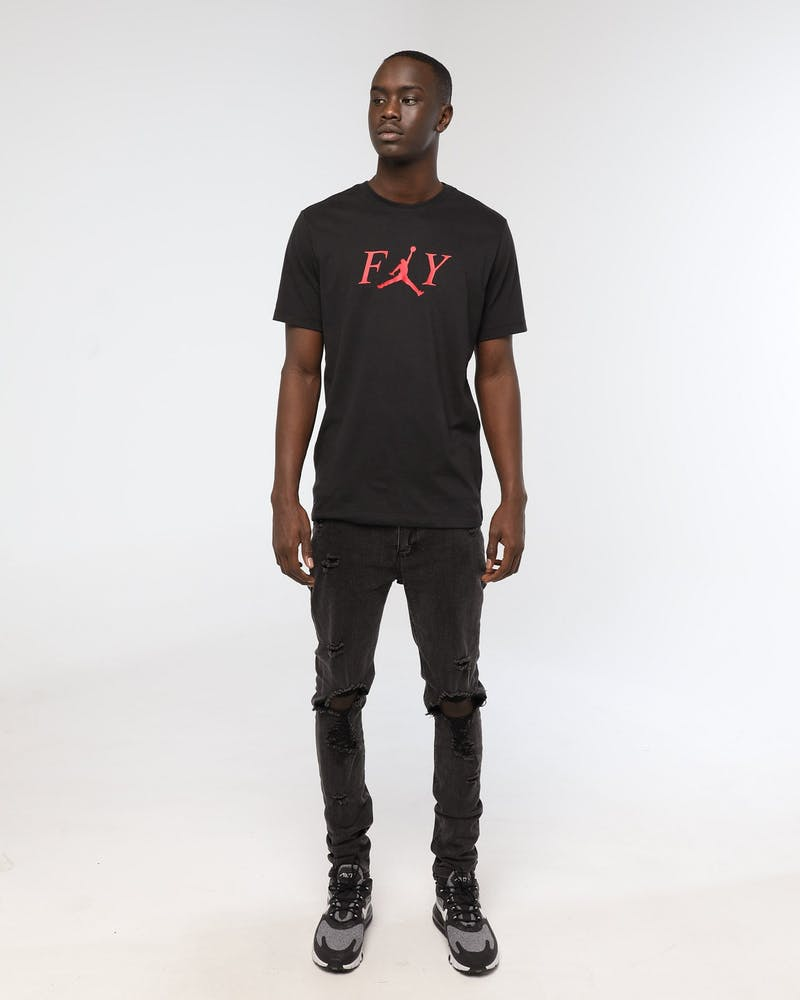Jordan FLY Tee Black/Red